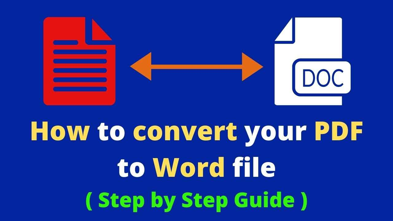 How to convert your PDF to Word file