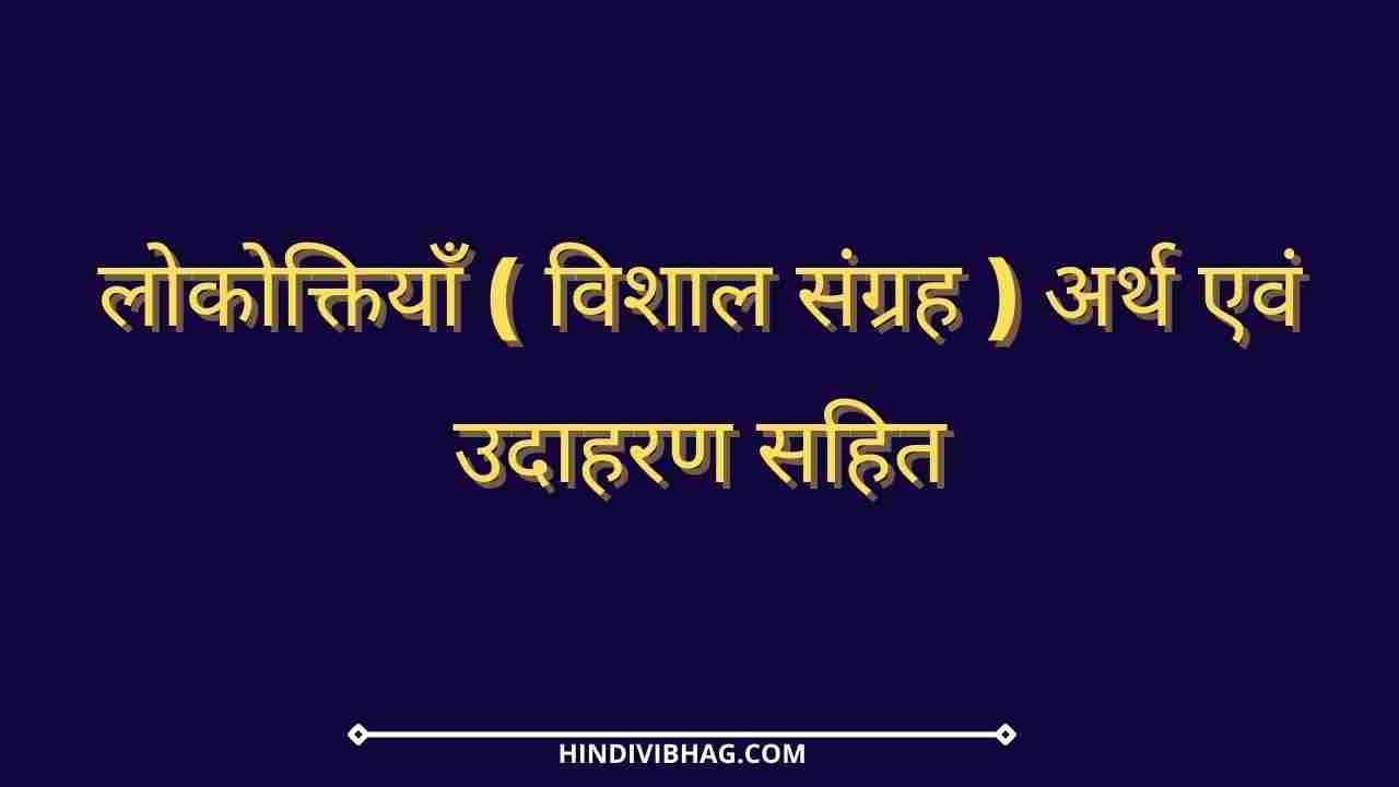 Lokoktiyan in hindi arth aur udahran sahit